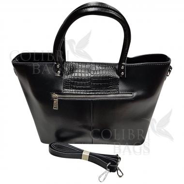 Женская кожаная сумка Richy Piton. Черный