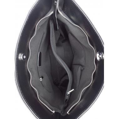 Женская кожаная сумка RINGITA. Черный