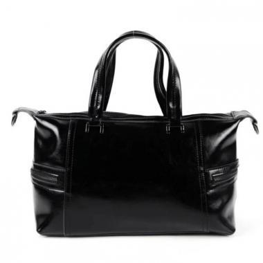 Женская кожаная сумка ROMANIA. Черный.