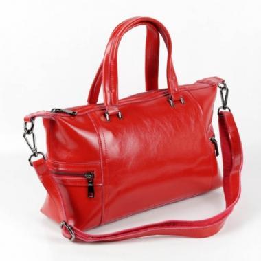Женская кожаная сумка ROMANIA. Красный.