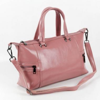 Женская кожаная сумка ROMANIA. Лиловый.