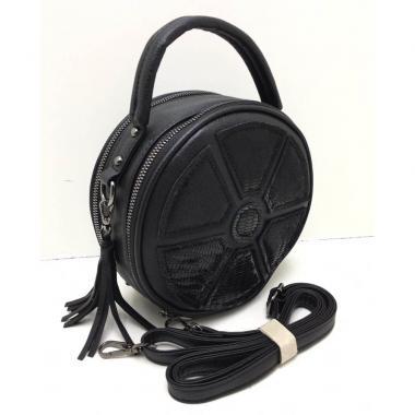 Кожаная сумка-кроссбоди RONDO. Черный.
