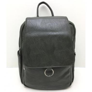 Женский рюкзак RUNKI RING. Темно-зеленый