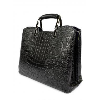 Женская кожаная сумка RUTH PITON. Черный