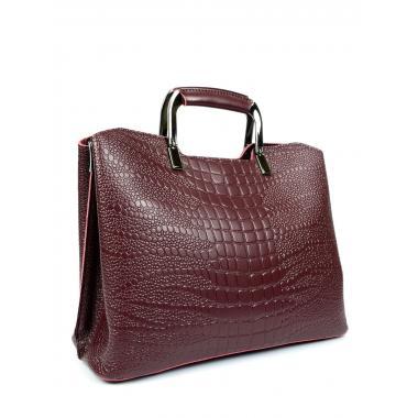 Женская кожаная сумка RUTH PITON. Ежевичный