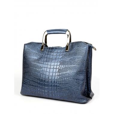 Женская кожаная сумка RUTH PITON. Сапфир