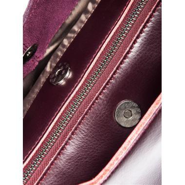 Женская кожаная сумка RUTH ЗАМША. Ежевичный