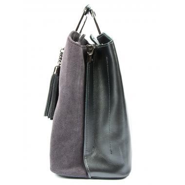 Женская кожаная сумка RUTH ЗАМША. Пепельный