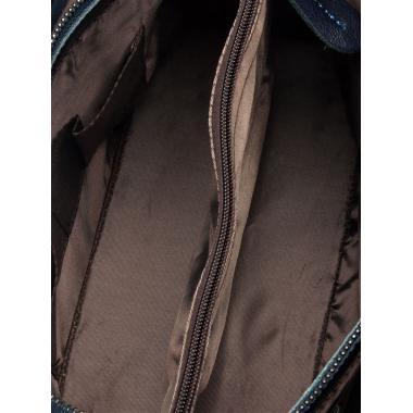 Женская кожаная сумка RUTH ЗАМША. Темно-синий