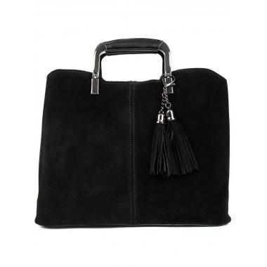 Женская кожаная сумка RUTH ЗАМША. Черный