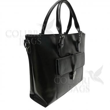 Женская кожаная сумка Sanata. Черный