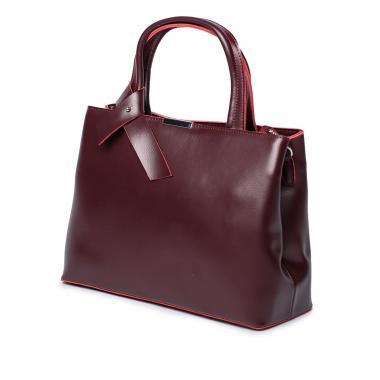 Женская кожаная сумка SESIL. Ежевичный