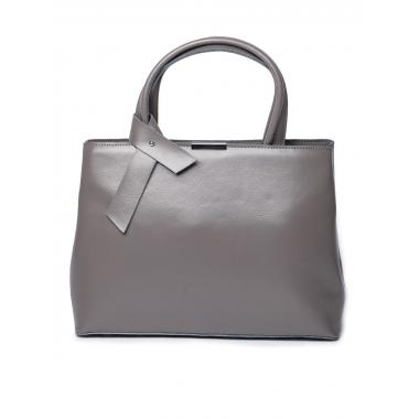 Женская кожаная сумка SESIL. Стальной