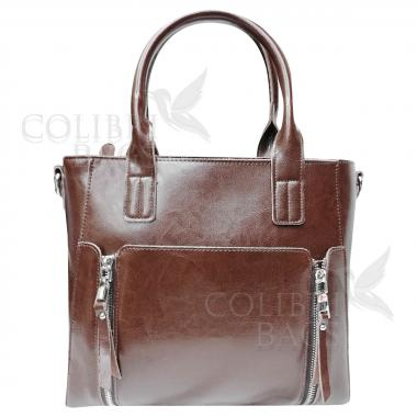 Женская кожаная сумка Siena. Шоколад