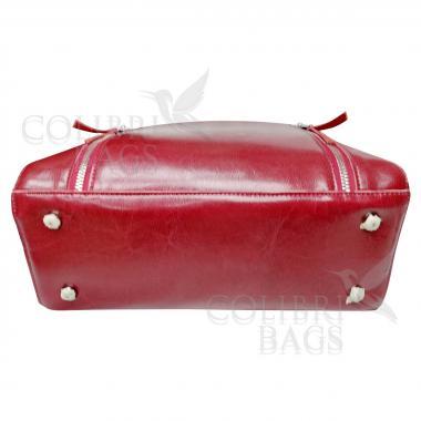 Женская кожаная сумка Siena. Гранат