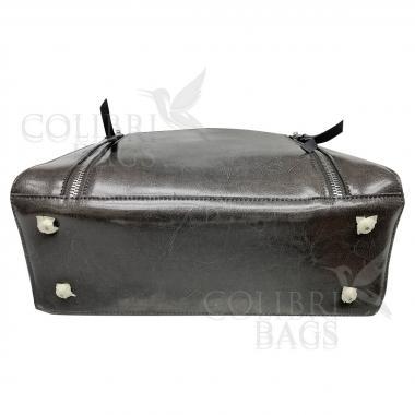 Женская кожаная сумка Siena. Пепельный