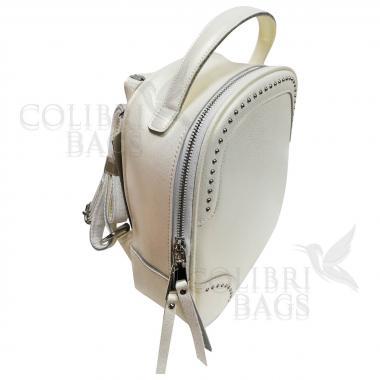 Рюкзак-трансформер SIMONA. Белый перламутр.