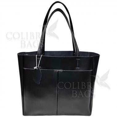 Женская кожаная сумка Sirena. Черный