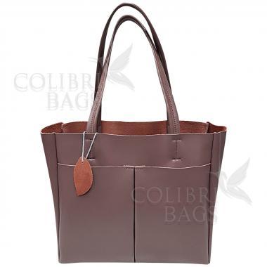 Женская кожаная сумка Sirena. Лиловый