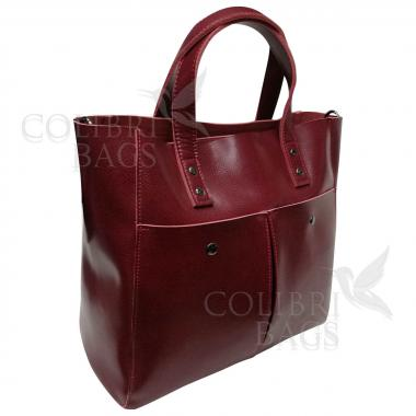 Женская кожаная сумка Sirena Nova. Гранат