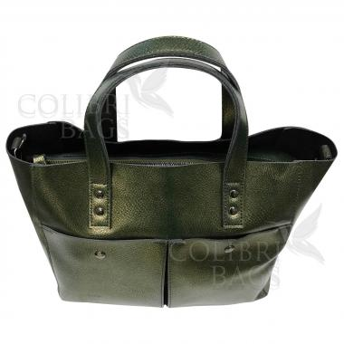Женская кожаная сумка Sirena Nova. Хамелеон
