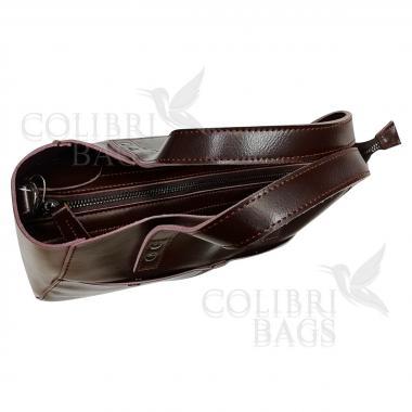 Женская кожаная сумка Sirena Nova. Шоколад