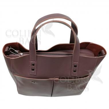 Женская кожаная сумка Sirena Nova. Лиловый