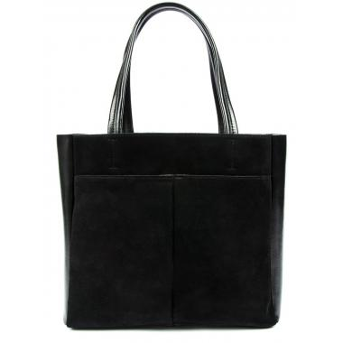 Женская кожаная сумка SIRENA ЗАМША. Черный