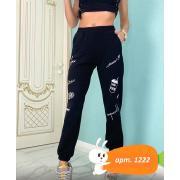 Спортивные штаны арт.1222. Черные