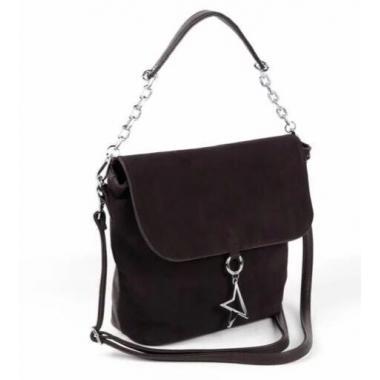 Женская кожаная сумка STARLETT. Шоколад