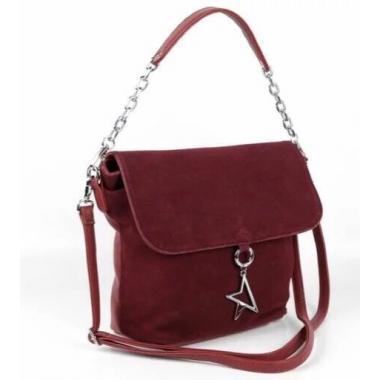 Женская кожаная сумка STARLETT. Гранат