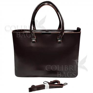 Женская кожаная сумка-планшет Kyzer. Шоколад