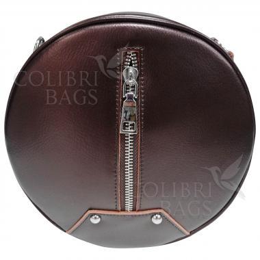 Кожаный рюкзак-трансформер Sunset. Кофе жемчужный