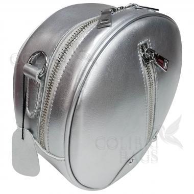 Кожаный рюкзак-трансформер Sunset. Серебро