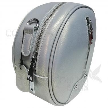 Кожаный рюкзак-трансформер Sunset. Серый перламутр