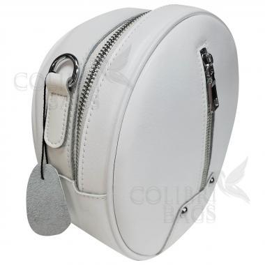 Кожаный рюкзак-трансформер Sunset. Белый