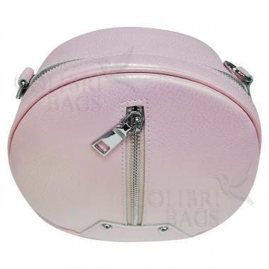 Кожаный рюкзак-трансформер Sunset. Розовый перламутр