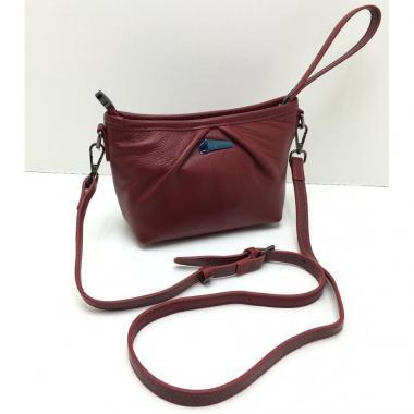 Женская кожаная сумка SURIA. Гранат