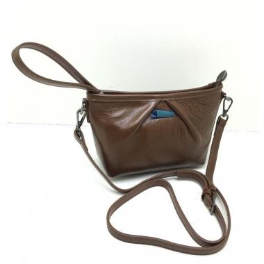 Женская кожаная сумка SURIA. Песочный
