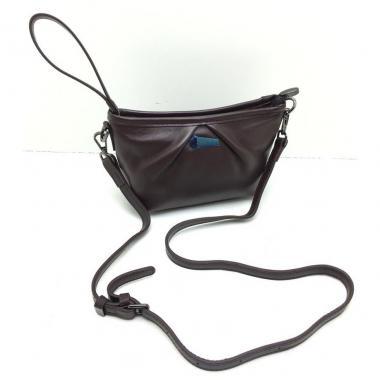 Женская кожаная сумка SURIA. Шоколад