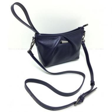 Женская кожаная сумка SURIA. Темно-синий