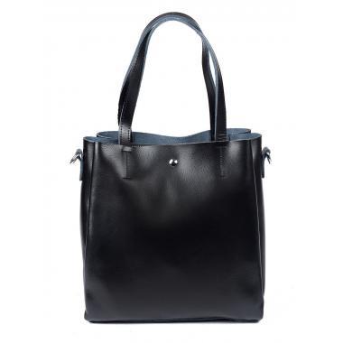 Женская кожаная сумка Sven. Черный