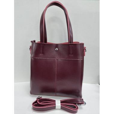 Женская кожаная сумка Sven. Ежевичный