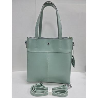Женская кожаная сумка Sven. Мятный