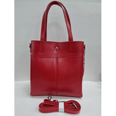 Женская кожаная сумка Sven. Красный