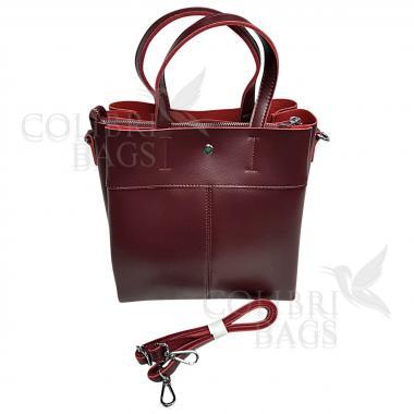Женская кожаная сумка Sven. Гранат