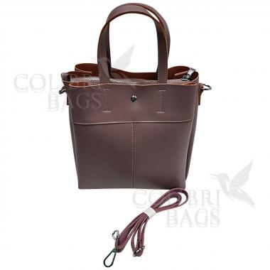 Женская кожаная сумка Sven. Лиловый