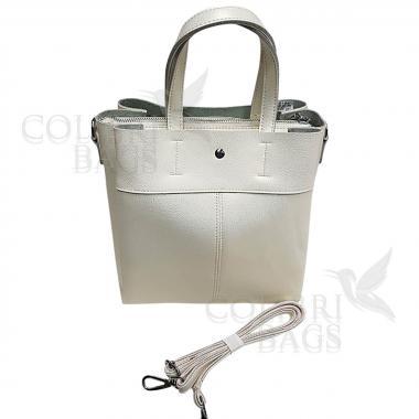 Женская кожаная сумка Sven. Белый