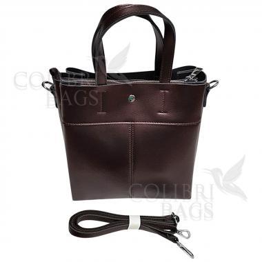 Женская кожаная сумка Sven. Кофе жемчужный