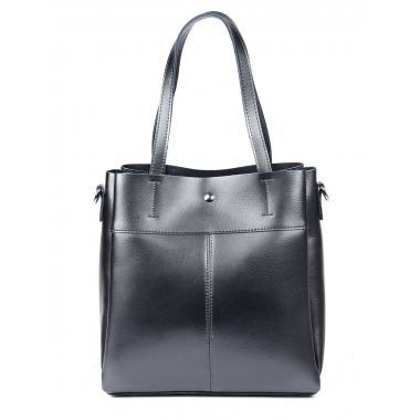 Женская кожаная сумка Sven. Стальной